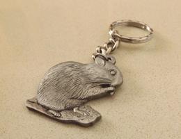 Hamster Pewter Keyring
